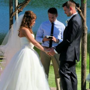 wedding bride groom officiate