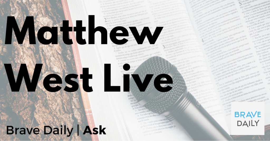 Matthew West Book, Hello My Name Is Live Chat